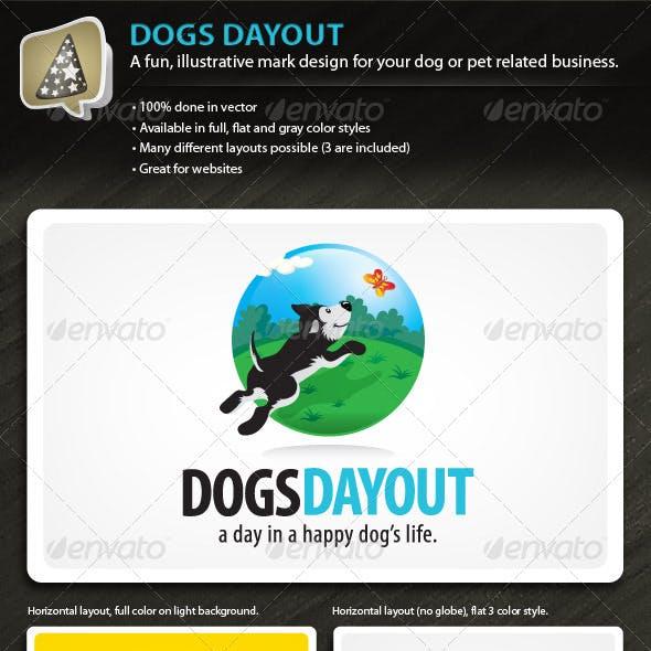 DogsDayOut - Illustrative Mark for Dog & Pet Biz