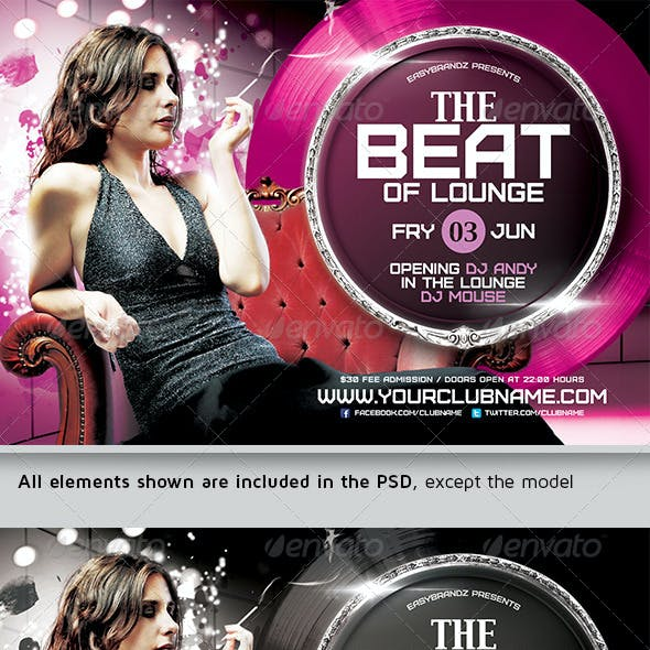 The Beat of Lounge Flyer Template
