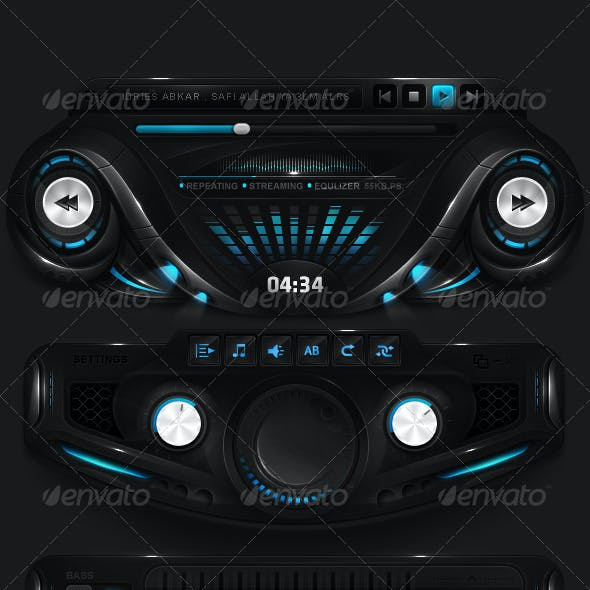 Futuristic Player Interface