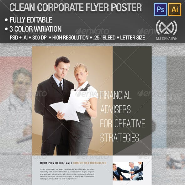 Clean Corporate Flyer Poster