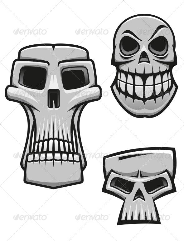 Monster and Zombie Skulls - Halloween Seasons/Holidays