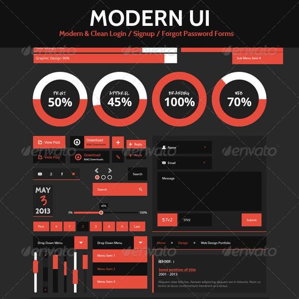 Dark Modern & Clean UI Elements