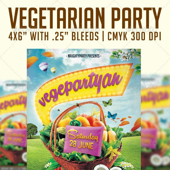 Vegetarian Party Flyer Template