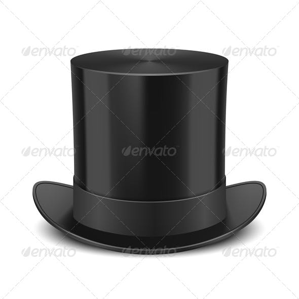 Top Hat Vector Illustration