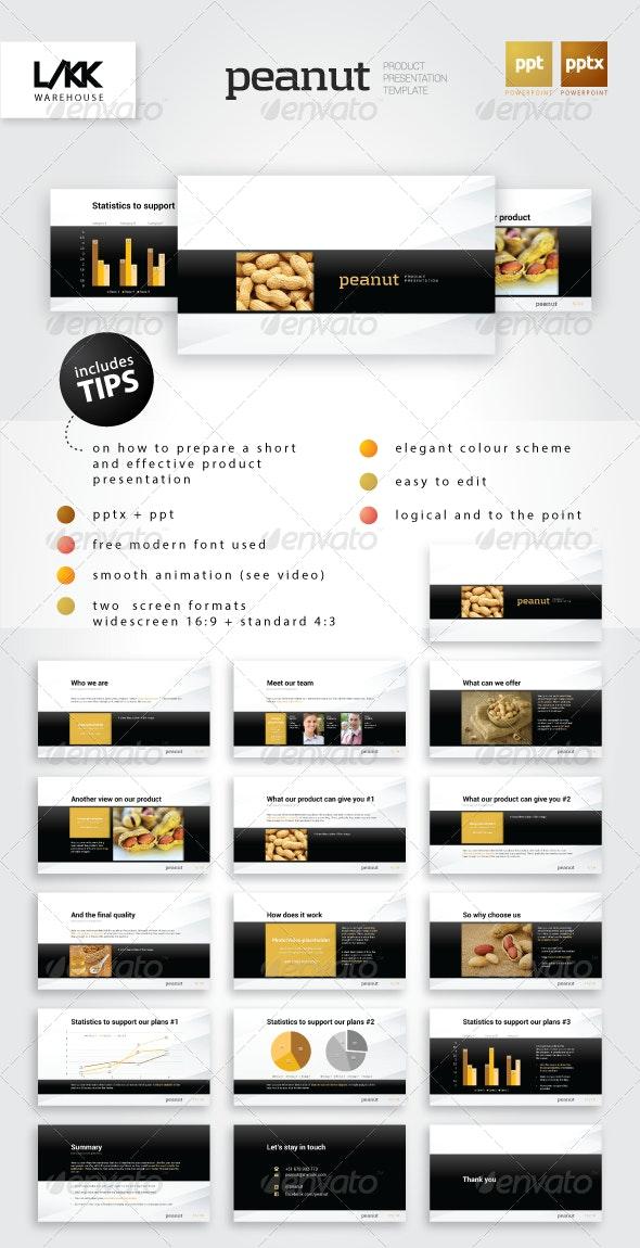 Peanut Product Presentation Template - Presentation Templates