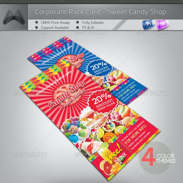Sweet Candy Shop Rack Card