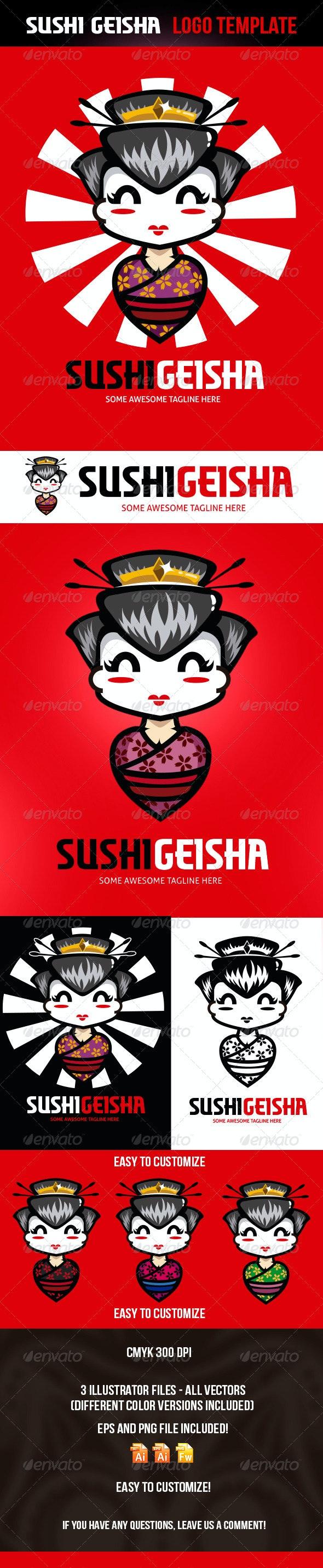 Sushi Geisha Logo Template - Logo Templates