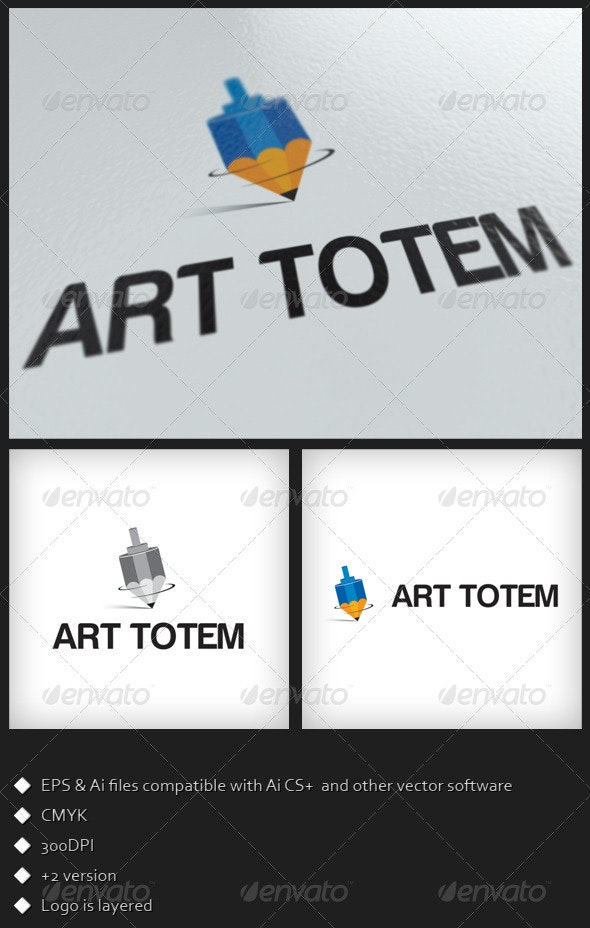Art Totem Logo Template - Objects Logo Templates