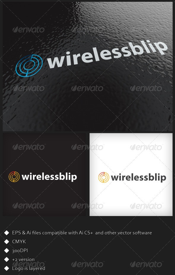 Wireless Blip Logo Template - Symbols Logo Templates