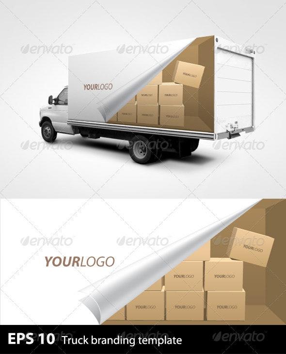 Truck Branding Template - Miscellaneous Print Templates