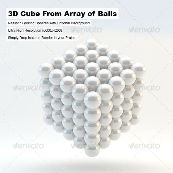 3d Cube From Array of Balls