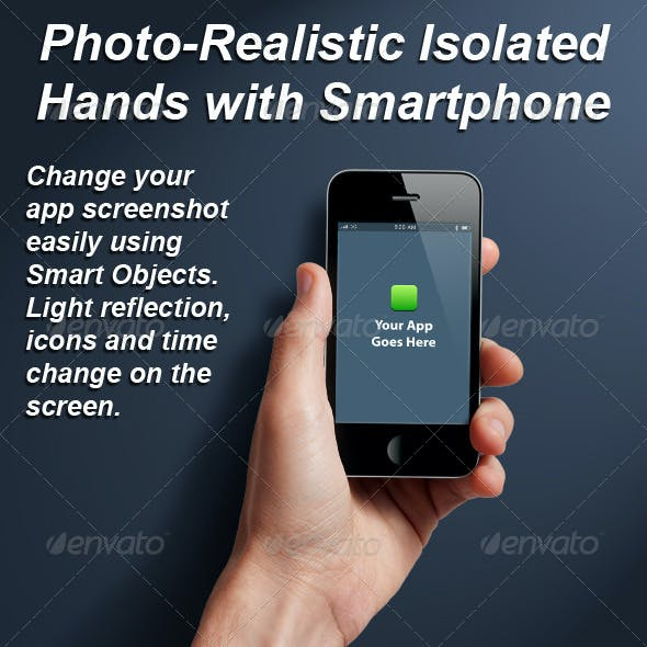 Photo-realistic Isolated Smart Phone Template