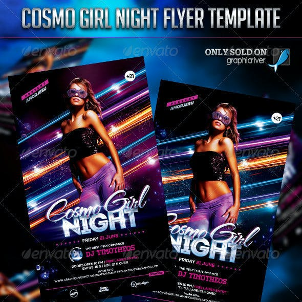 Cosmo Girl Night Flyer Template