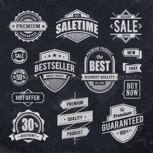 Chalk Drawn Sale Emblems