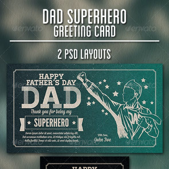Dad Superhero Greeting Card