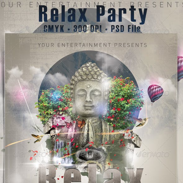 Relax Party Flyer