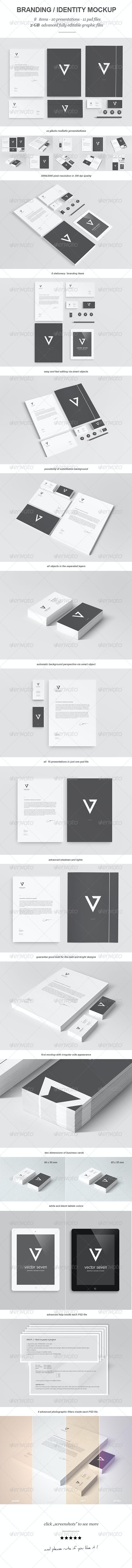 Branding / Identity Mock-up II - Stationery Print
