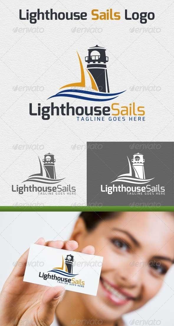 Lighthouse Sails Logo - Objects Logo Templates