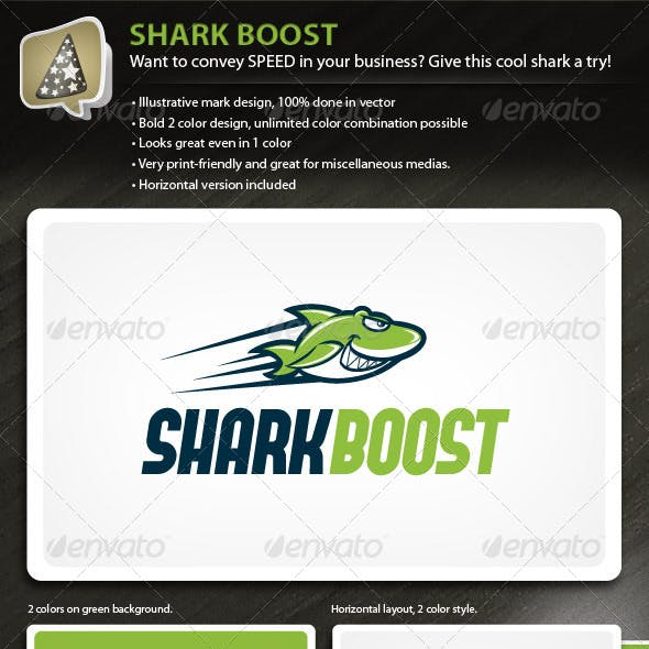 SharkBoost - Illustrative Mark for Speedy Business