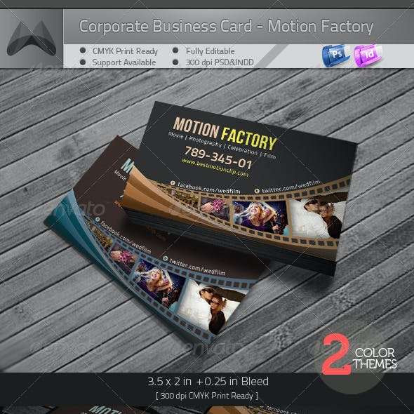 Motion Factory - Business Card Template