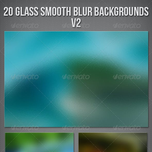20 Glass Blur Backgrounds V2