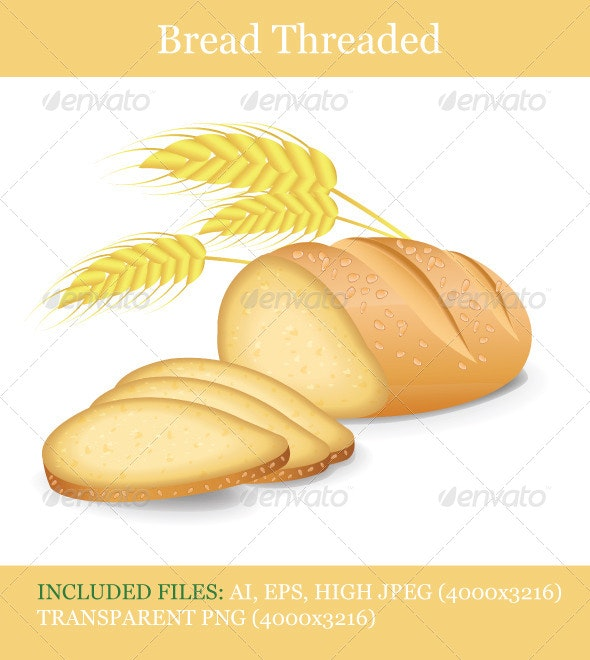 Bread Threaded  - Food Objects