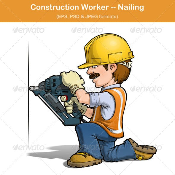 Construction Worker Nailing