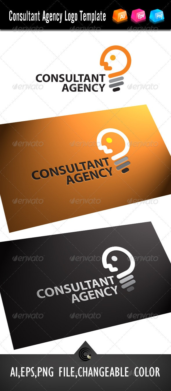 Consultant Agency Logo Template - Objects Logo Templates