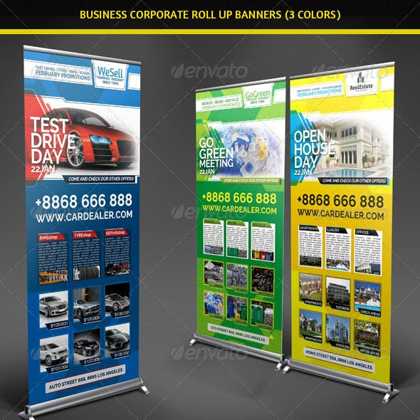 Business Corporate Roll Up Banners Signage