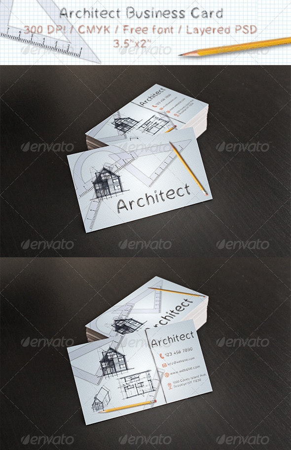 Architect Business Card - Business Cards Print Templates
