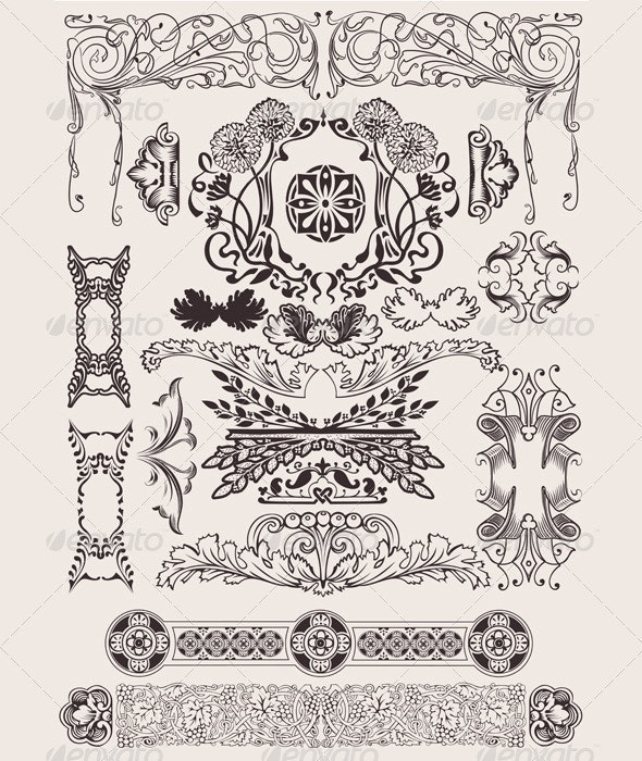 Vintage design elements and page decoration - Abstract Conceptual