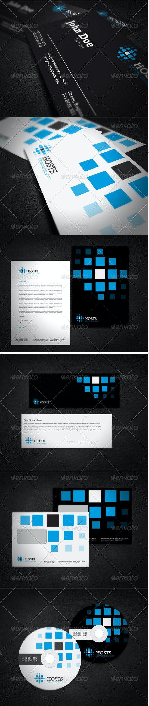 Hosting Company Corporate Identity - Stationery Print Templates