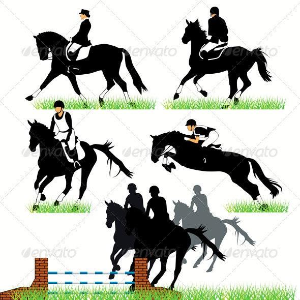 Jockeys And Riders - Sports/Activity Conceptual