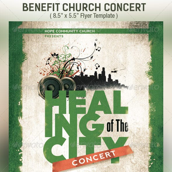 Benefit Concert Church Flyer Template