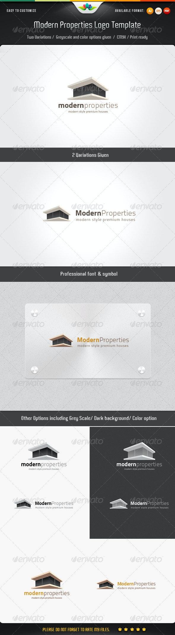 Modern Properties Logo Template - Buildings Logo Templates
