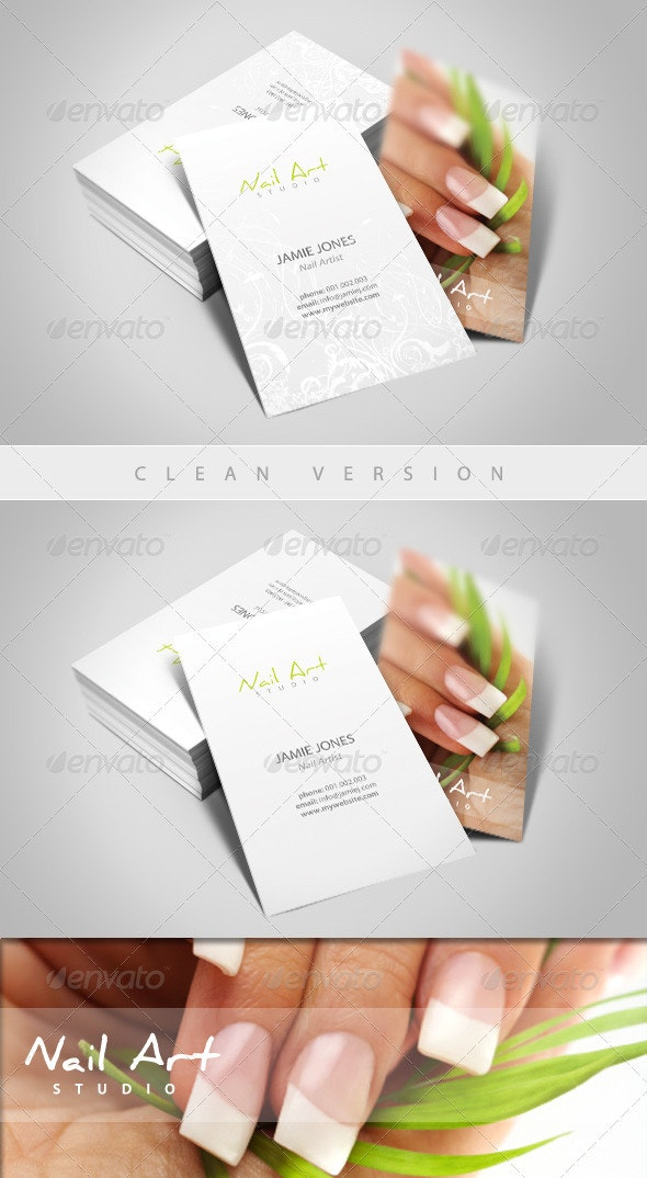 Nail Art/Manicure Business Card - Industry Specific Business Cards