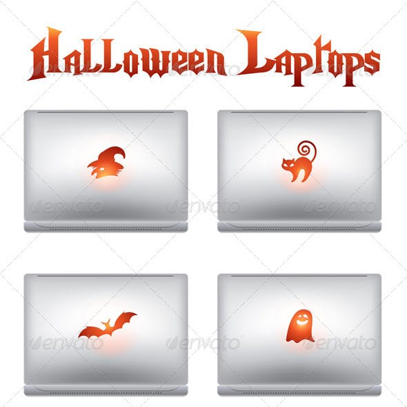 Halloween creative design laptops