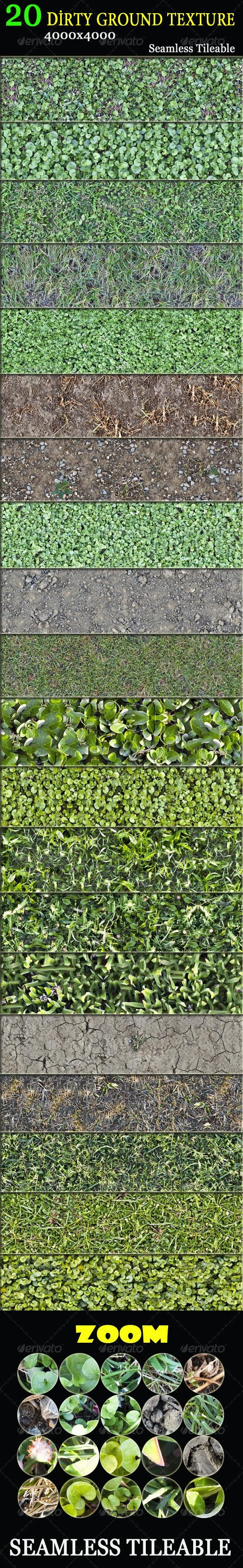 20 Dirty Ground Textures - Nature Textures