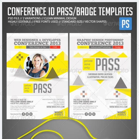 Conference Expo & Corporate Pass ID Badge