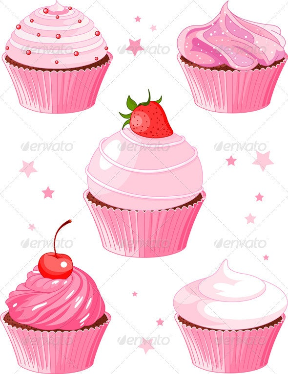 Various cupcake - Food Objects
