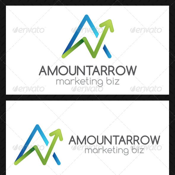 Marketing A Letter Logo Template