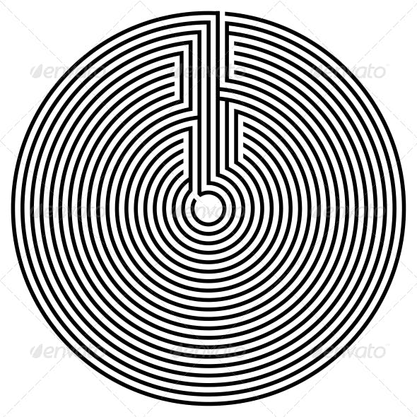 Black Round Labyrinth