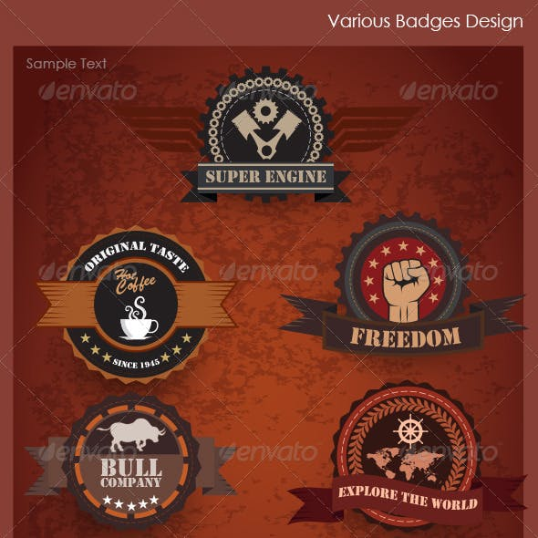 Various Badges Design