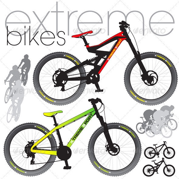 Mountain Bikes Set - Man-made Objects Objects