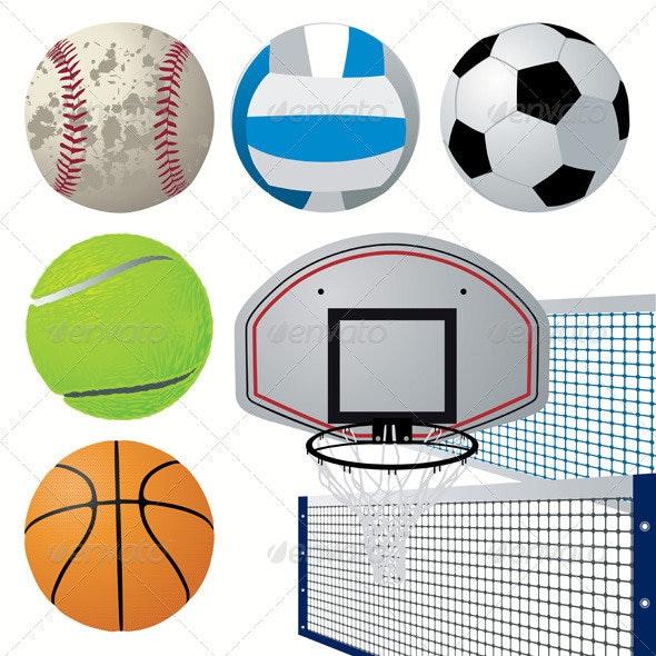 Sport Equipment Set - Sports/Activity Conceptual