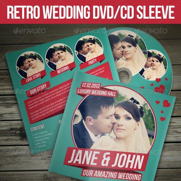Retro Wedding DVD / CD Sleeve With Disc Label