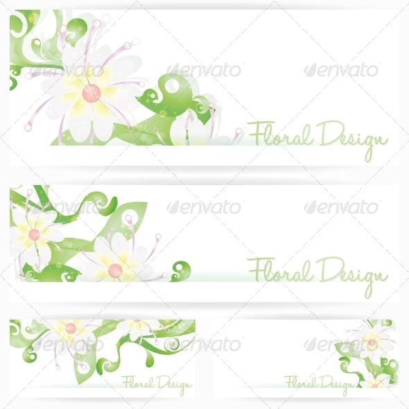 Flower Vector Background Brochure. Floral Cards