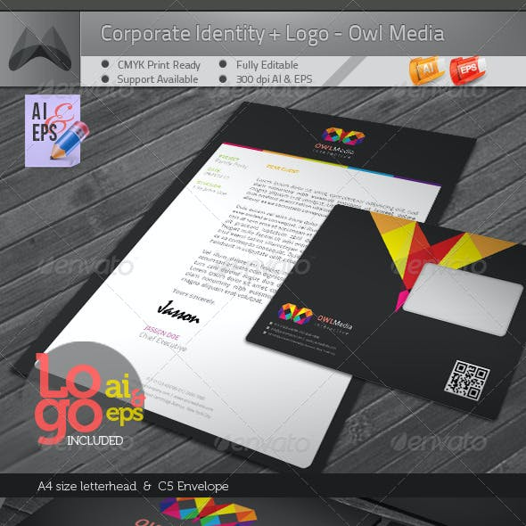 Owl Media - Corporate Identity Package