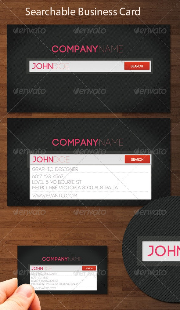 Searchable Business Card - Corporate Business Cards
