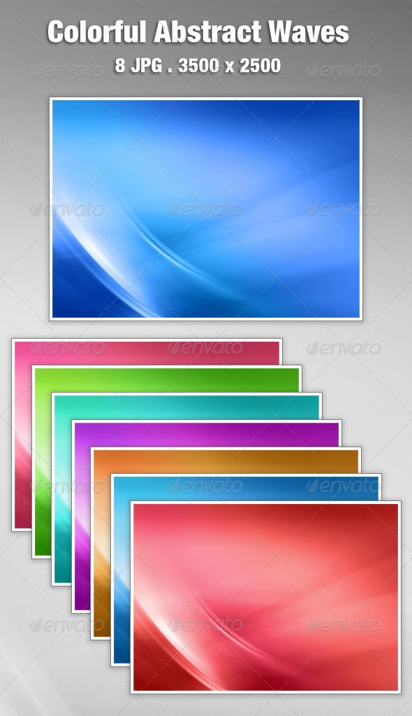 Colorful Abstract Waves Background - Backgrounds Graphics